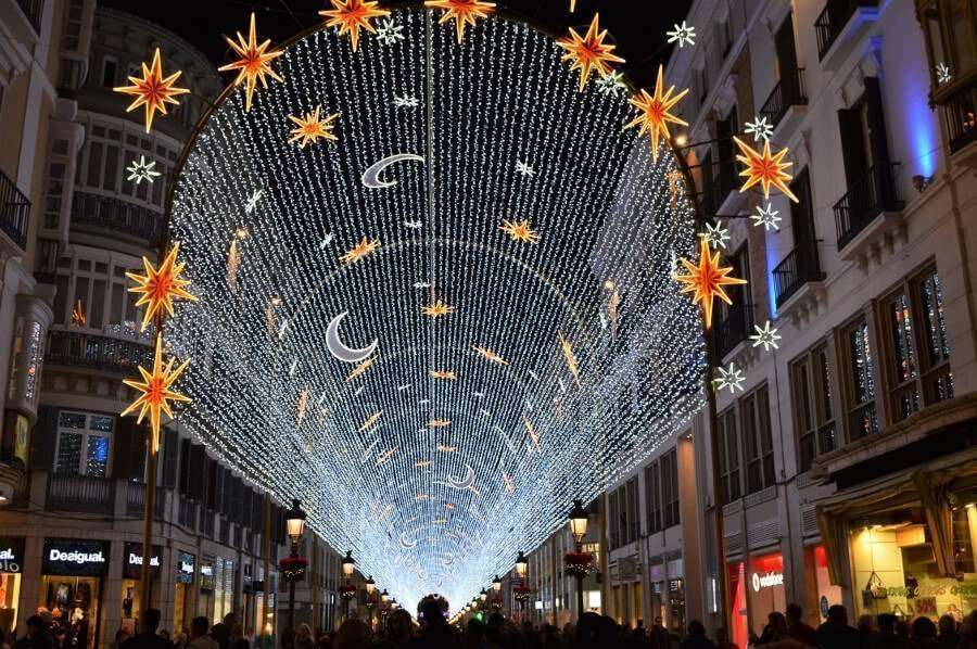Christmas lights Calle Larios Malaga