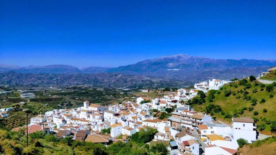 Cycling mountain village Andalucia
