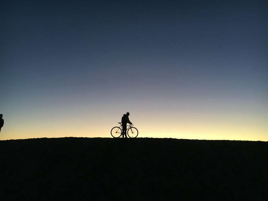 sunset cycle ride in spain