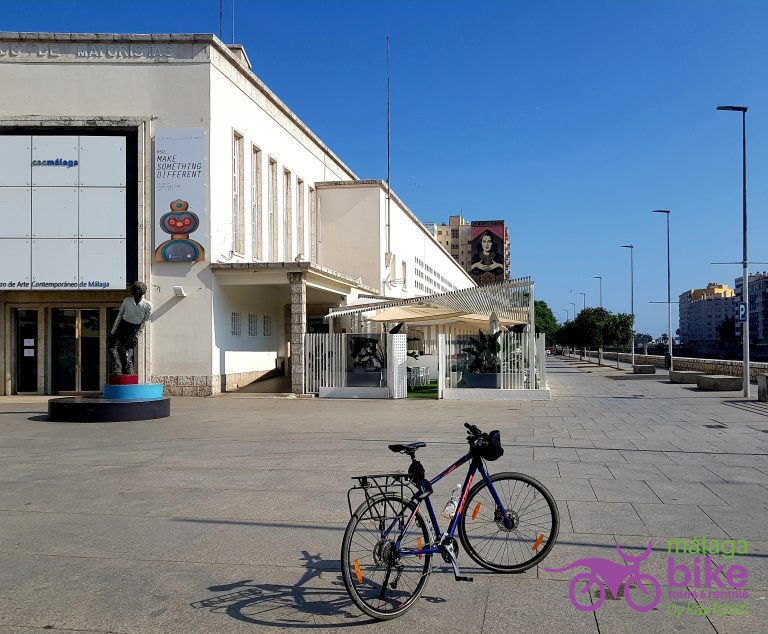 While cycling in Málaga you can visit CAC- the Contemporary Art Centre