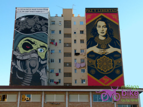 Murals by D*Face & Obey