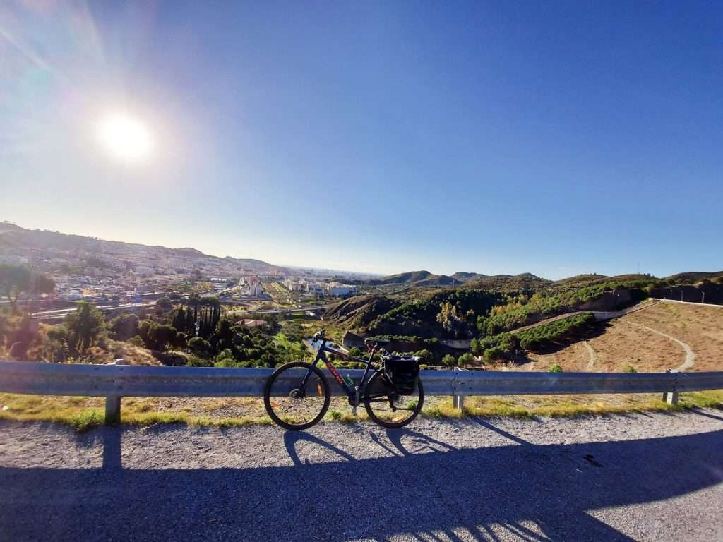 Malaga Cycle rioute north to the Botanical Gardens and El Limonero Dam