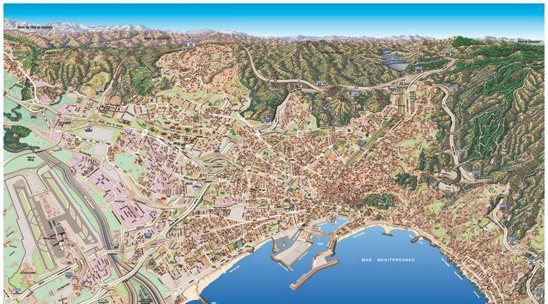 Map of Malaga and the Montes of Malaga cycling routes