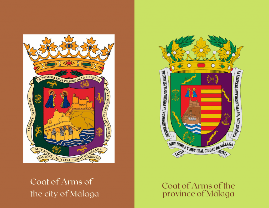 Gibralfaro Castle on the Coat of Arms of the city and province of Malaga