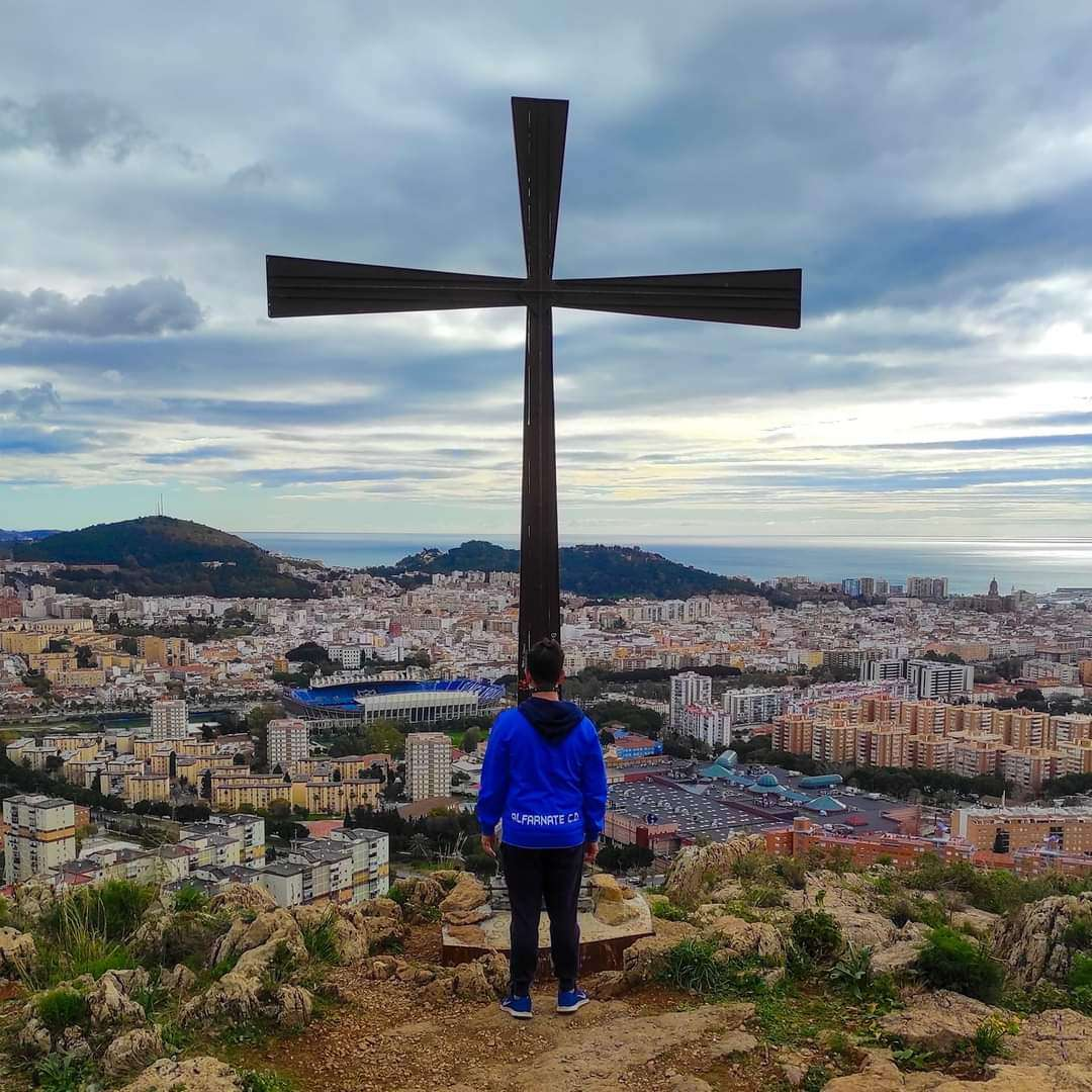 The famous cross of Monte Coronado and amazing views over Malaga