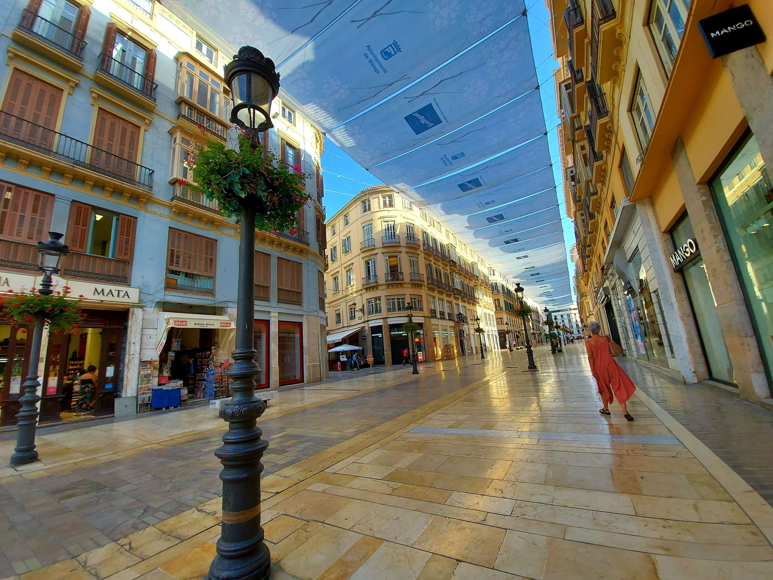 Calle Larios, the perfect place to go for a walk and peope-watch