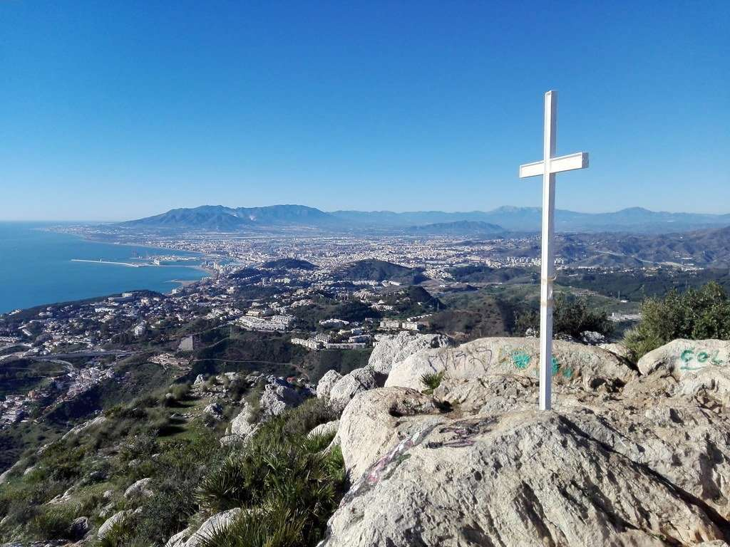 Things to do in Malaga- climb up to the cross on Monte San Anton